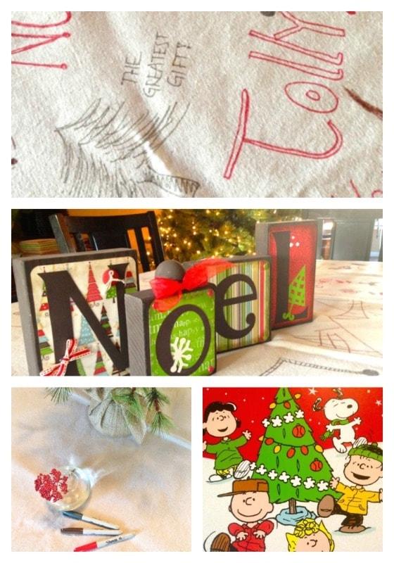 Diy Canvas Drop Cloth Tablecloth For Christmas Entertaining