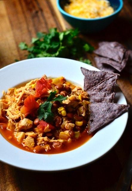 Chicken Tortilla Soup with Fresh Cilantro