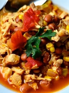 Chicken Tortilla Soup with Fresh Cilantro
