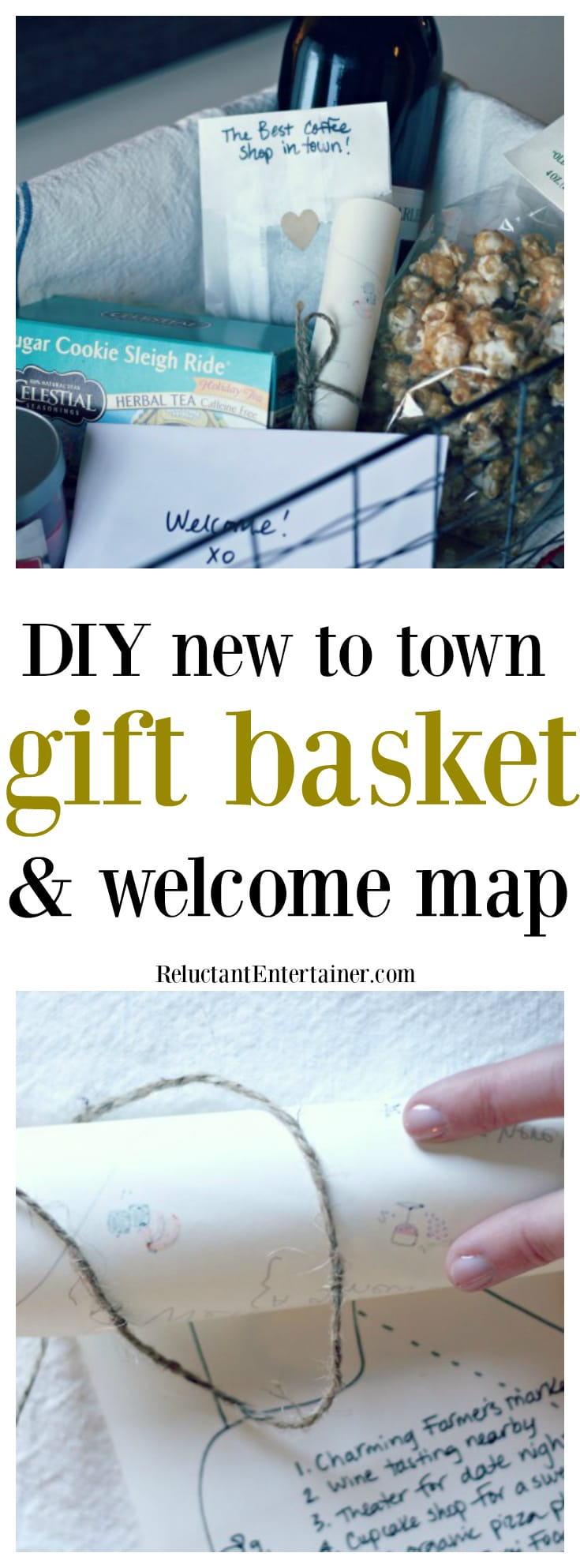 DIY New to Town Gift Basket Welcome Map