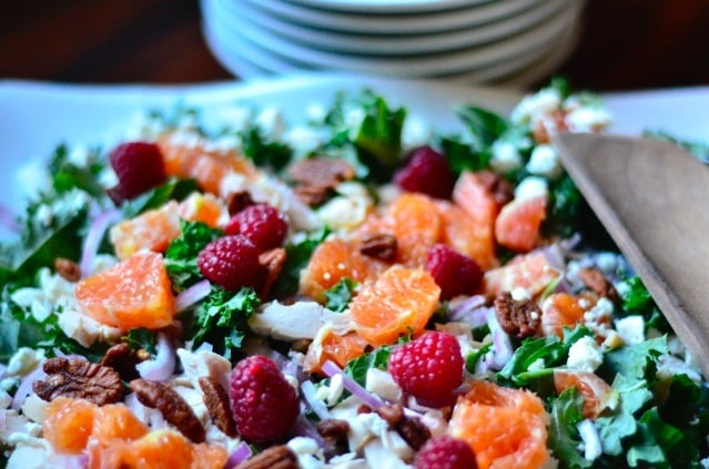 Healthy Chicken, Orange and Kale Salad
