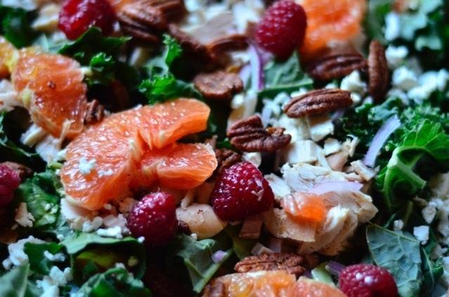 Healthy Chicken, Orange and Kale Salad