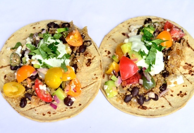 Greek Quinoa Tacos
