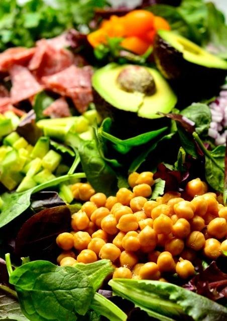 Chop Chop Salad with Garbanzo Beans