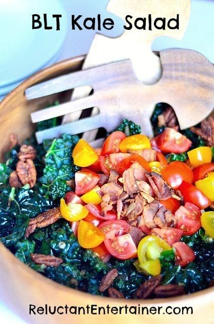 BLT Kale Salad | ReluctantEntertainer.com