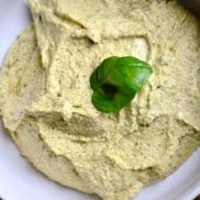 White Bean Hummus with Basil