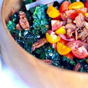 BLT Kale Salad Recipe | ReluctantEntertainer.com