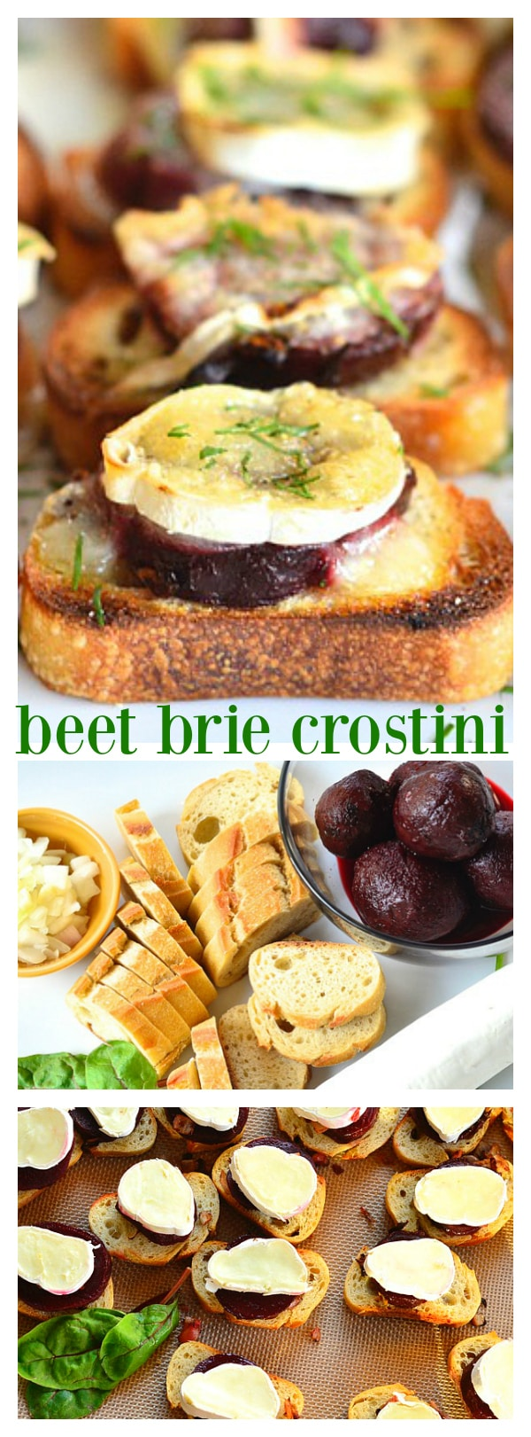 Beet Brie Crostini for spring or summer entertaining!