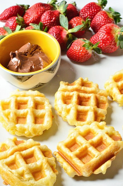 Puff Pastry Waffle Shells with Nutella and Fruit