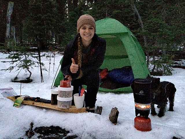 Snow Camping and Bacon-Avocado Griddle Pizzas