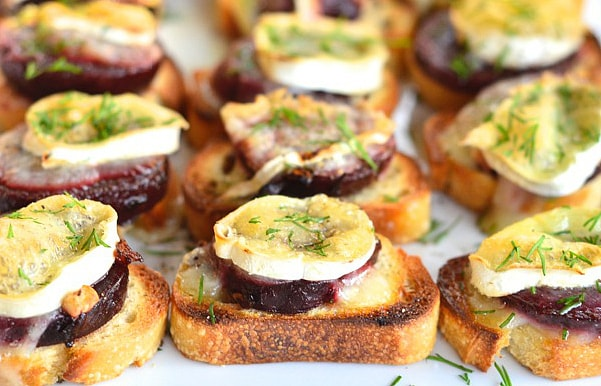 Beet & Brie Appetizer