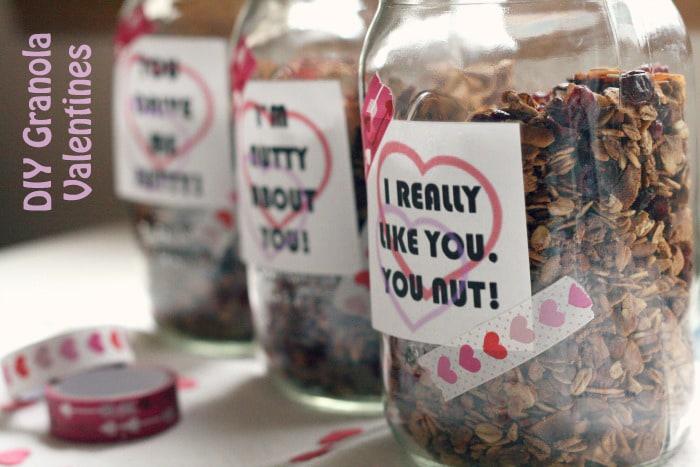 DIY Granola Valentine's Day
