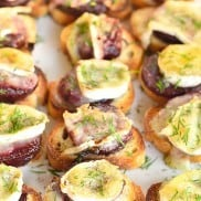 Beets and Brie Crostini