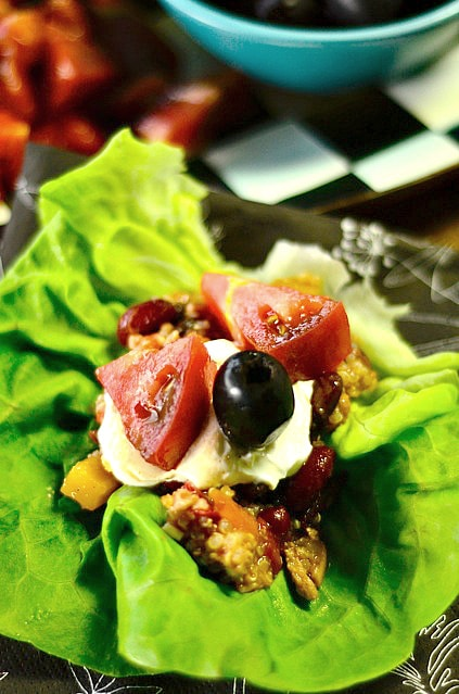 Quinoa Turkey Chili Lettuce Wraps
