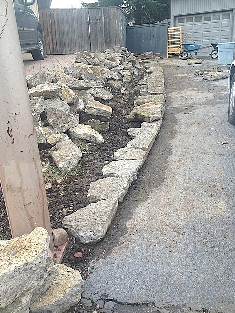 DIY Broken Concrete Project for New Flower Beds
