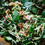Broccoli Kale Spinach Salad
