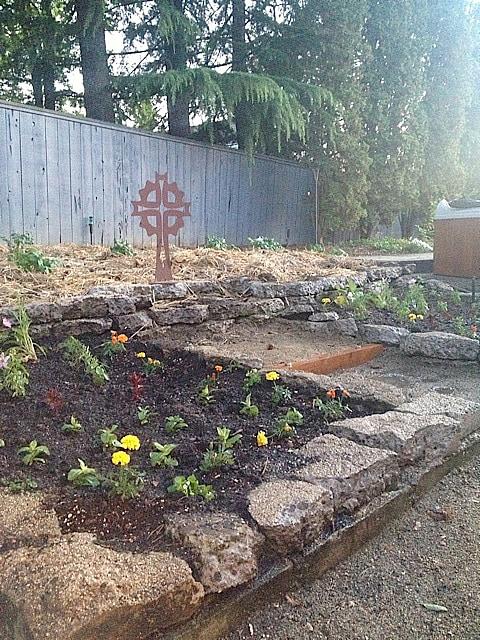 DIY Broken Concrete Project For New Flower Beds