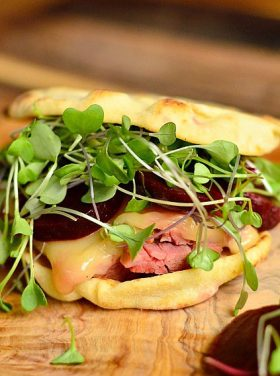 Corned Beef Swiss Naan Sandwich