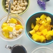 Greek Yogurt with Mango and Turkish Hazelnuts