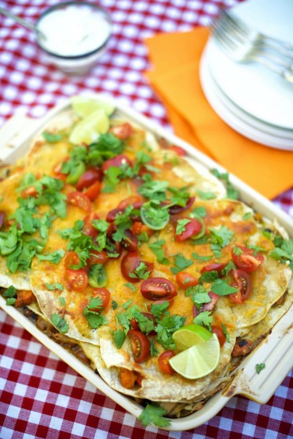 Green Enchilada Chicken Bake Casserole