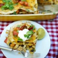 Green Enchilada Chicken Bake Casserole