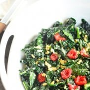 Kale Sald with Sweet Red Peppers