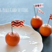 DIY Flag Place Card Setting
