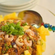 "Pineapple and Baby Shrimp Farro ""Fried Rice"""