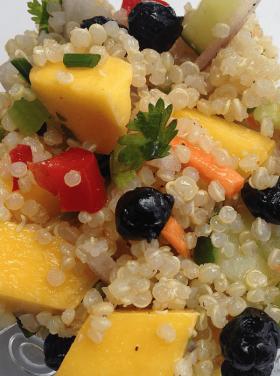 Gratitude at Smith Rock and Mango Quinoa Salad
