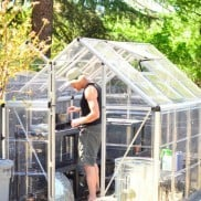 DIY Garden Project: Lowe's Home Improvement Polycarbonate Greenhouse
