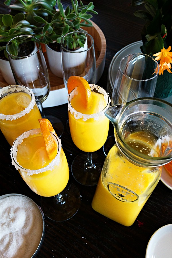 Virgin Mimosa Drink For Mother's Day