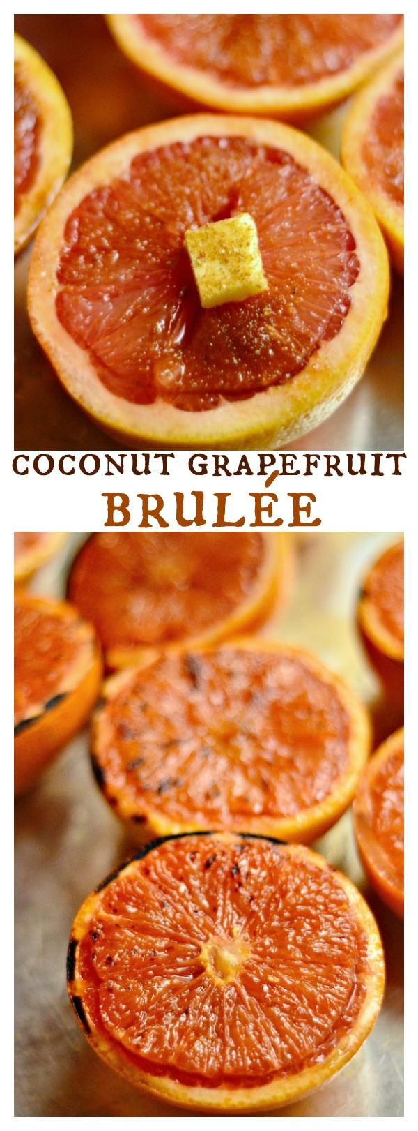 Coconut Grapefruit Brulée for Easter Brunch or a springtime gathering