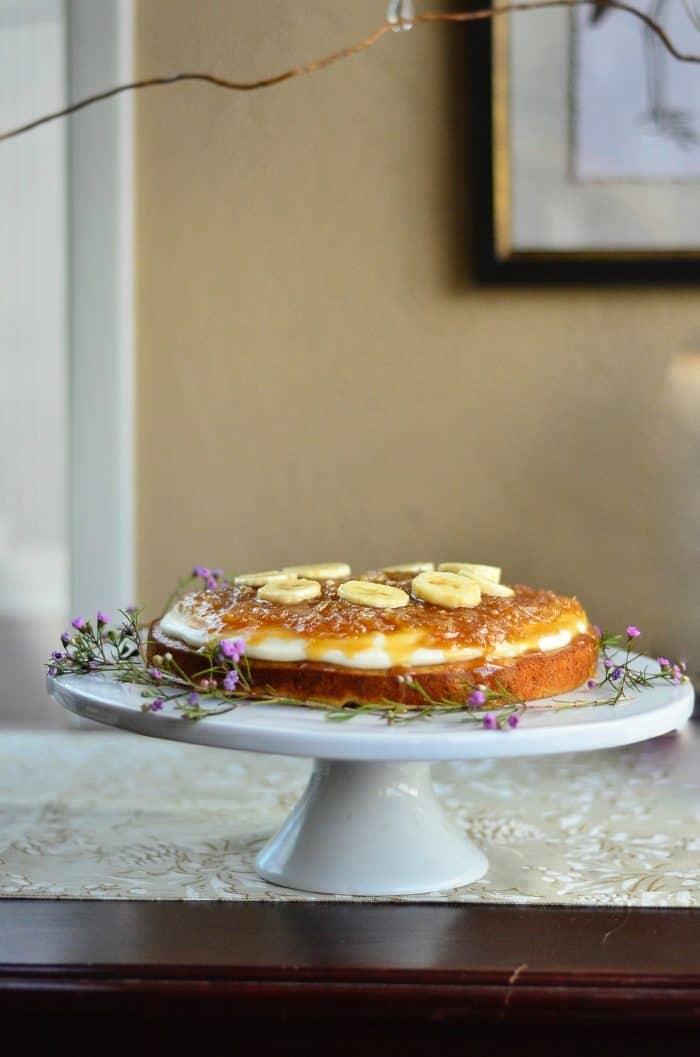 Salted Caramel Coconut Banana Cake Recipe