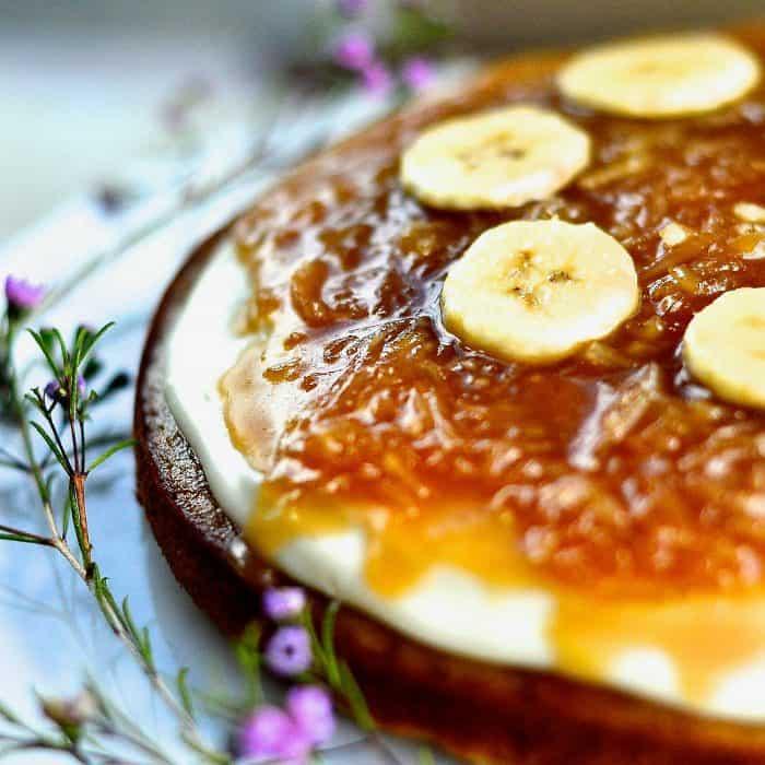 BEST Salted Caramel Coconut Banana Cake Recipe