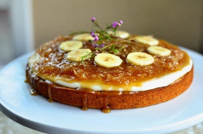 Best Salted Caramel Coconut Banana Cake