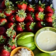 Coconut Curd Fruit Platter