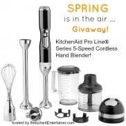 KitchenAid Pro Line® Series 5-Speed Cordless Hand Blender GIVEAWAY