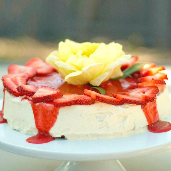 Strawberry White Chocolate Lemon Torte
