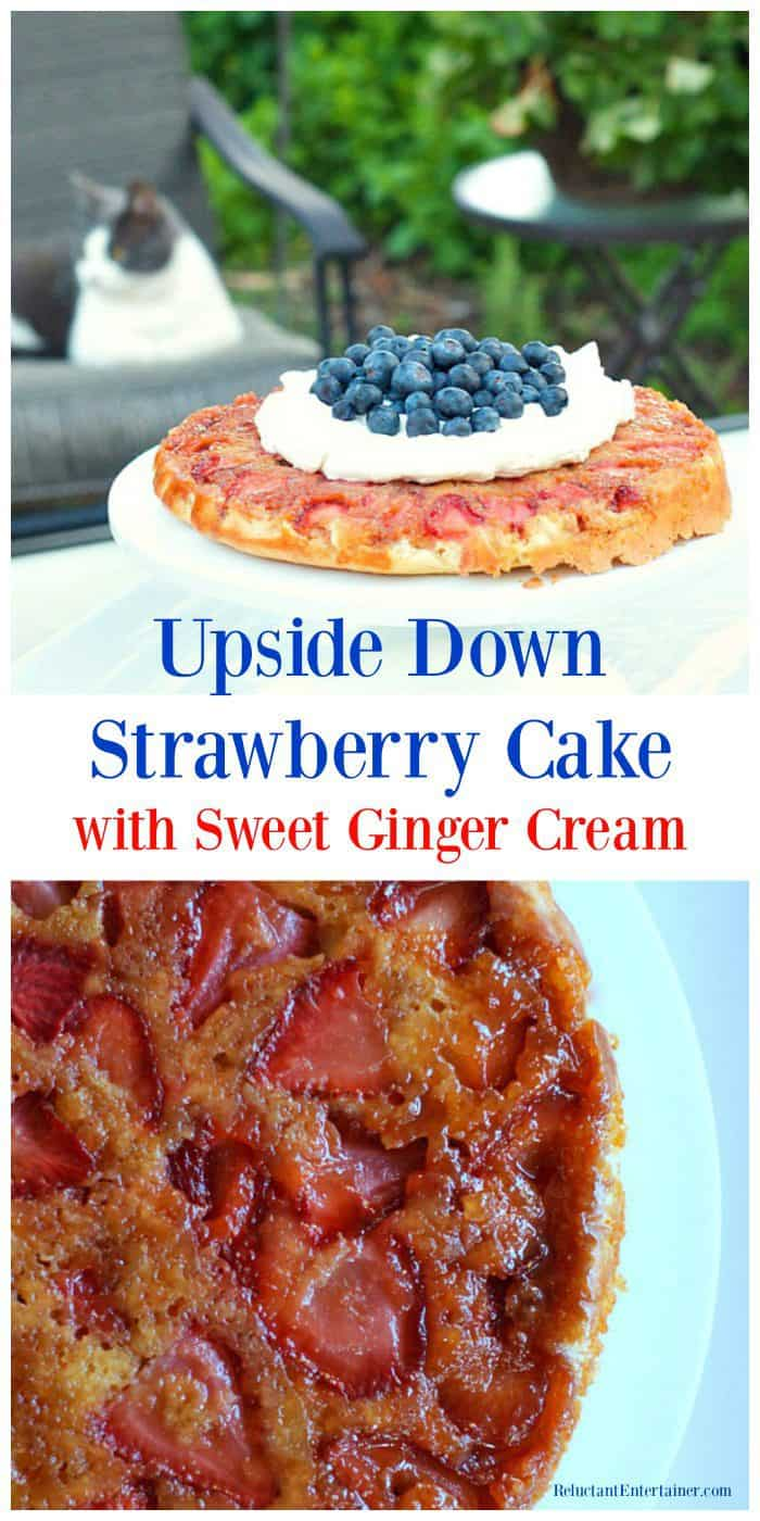 Best Strawberry Cake Recipe with Sweet Ginger Cream