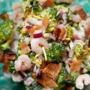 Bacon Shrimp Broccoli Salad