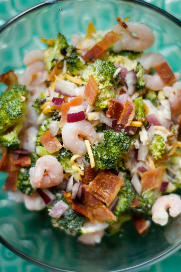 Bacon Shrimp Broccoli Salad
