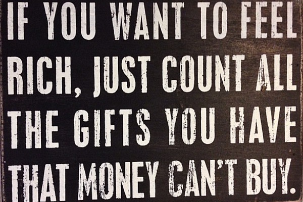 If you want to feel rich ...