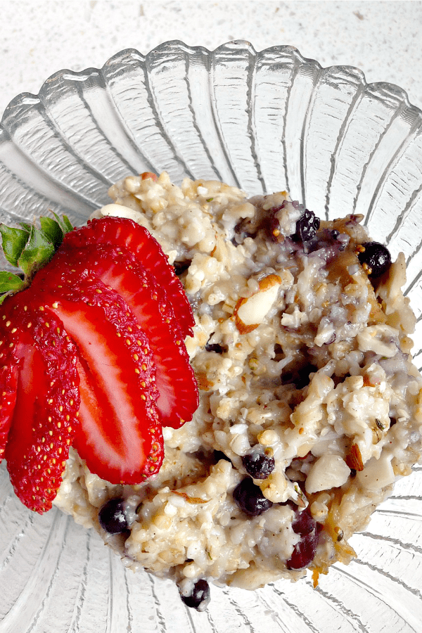 Healthy Oatmeal Recipe Steel Cut with Dried Fruit and Nuts