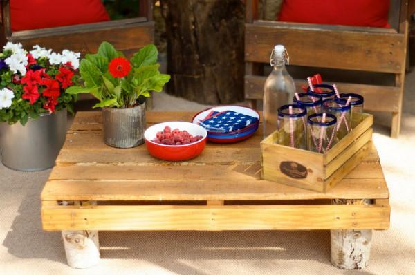 Fourth of July Backyard Garden Getaway Space