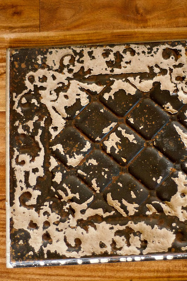 Diy Vintage Ceiling Tile Chargers For Table Setting