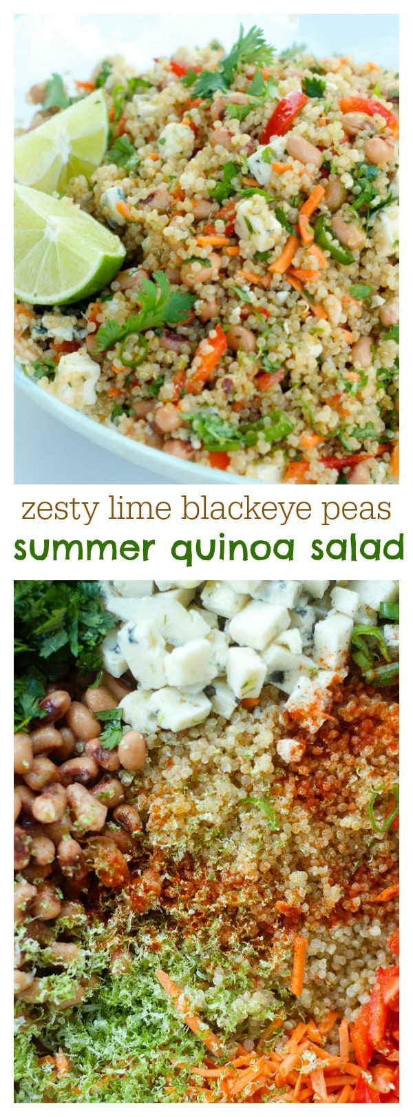 Zesty Lime Blackeye Peas Summer Quinoa Salad