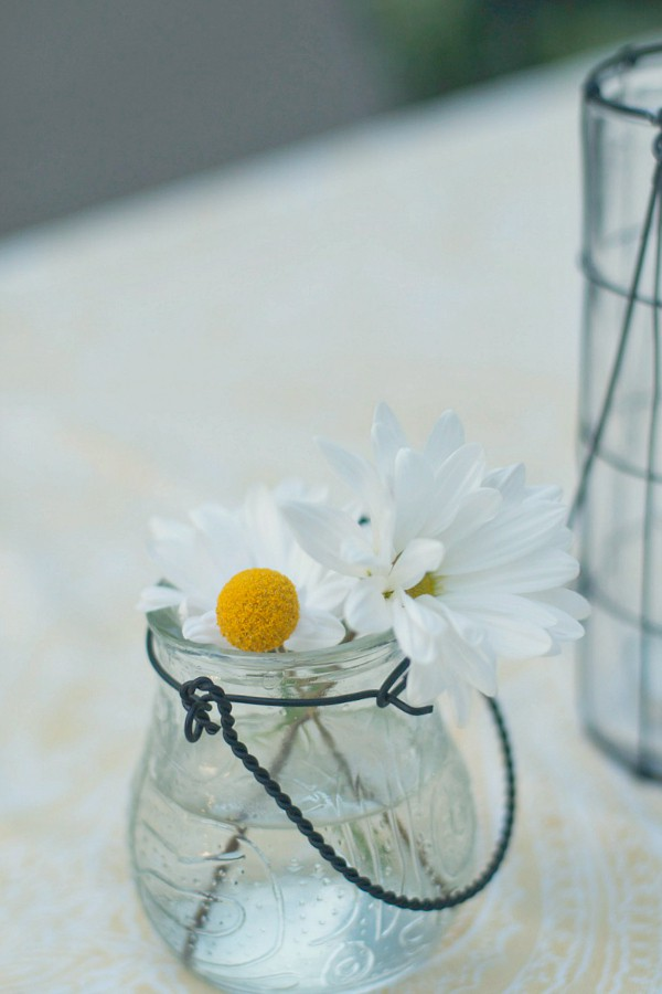 Yellow Billy Balls and Daisies