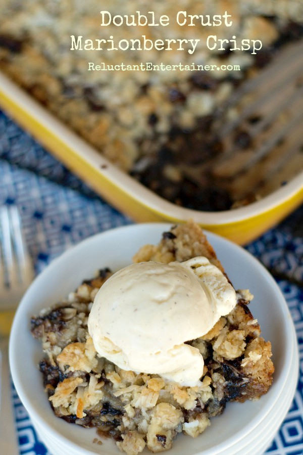 Double Crust Marionberry Crisp