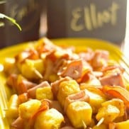 Canadian Bacon and Pineapple Kabobs