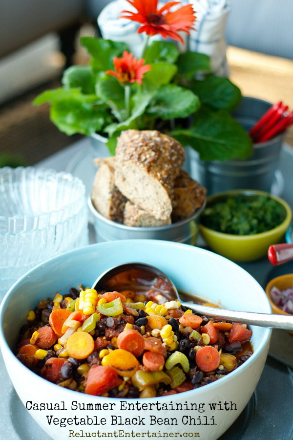 ... out a bowl of Vegetable Black Bean Chili, made with Bush's Beans